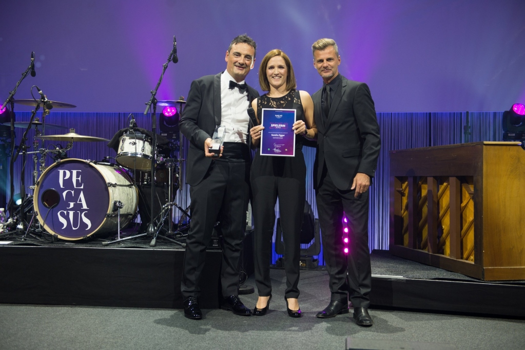 Berit Klinik Hauptsponsor an der Nacht des Ostschweizer Fussballs 2018