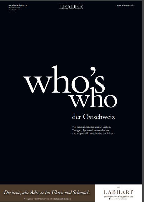 Peder Koch im «Who's who der Ostschweiz»